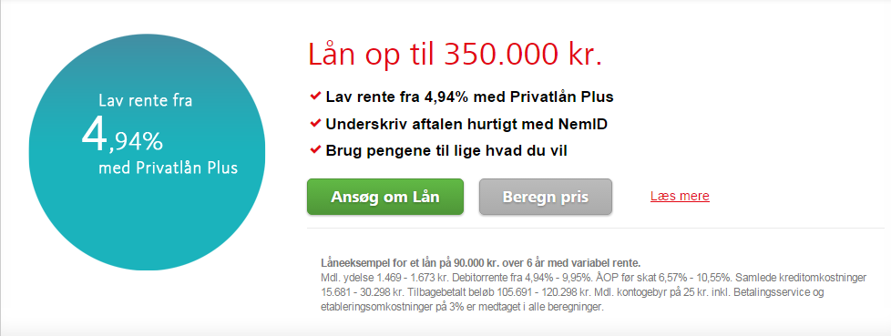 privat lån renter