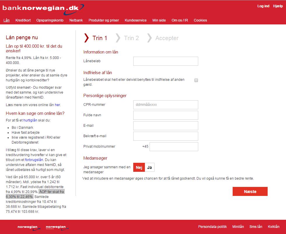 anmeldelse af Bank Norwegian